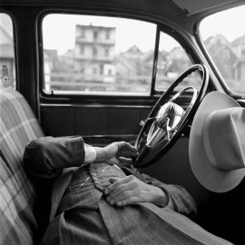 Vivian Maier's Photo of a Man in a Car