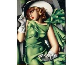 """""""Jeune Fille en vert,"""" by Tamara de Lempicka"""