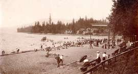 English Bay, foot of Harwood Street, 1903