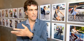 """Lincoln Clarkes discusses """"Cyclists,"""" his new book of photographs"""