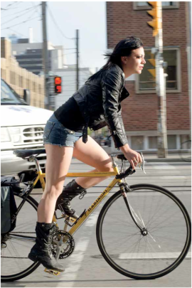 "Photo from Lincoln Clarkes' new book, ""Cyclists"""