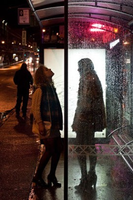 lincoln clarkes bus stop, 2010 c-print, 14 x 11 inches